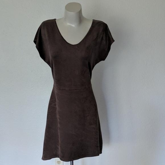 C&C California Dresses & Skirts - Short sleeve suede festival dress